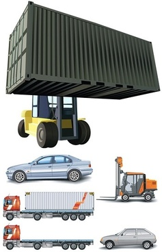 car truck car vector hoists