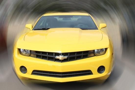 car yellow camero