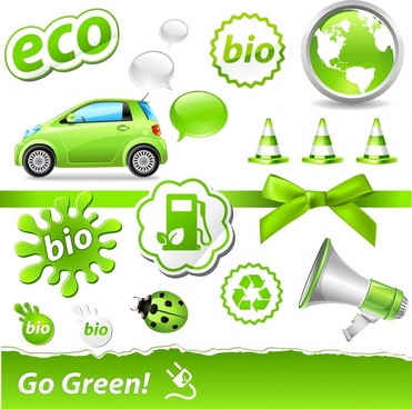 carbon green theme icon vector