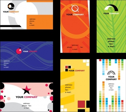 card templates modern colored abstract nature themes