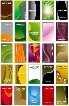 card background vector set of useful