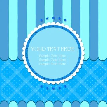 card cover template blue paper cut decor