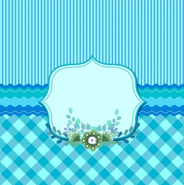 card cover template blue striped checkered decor