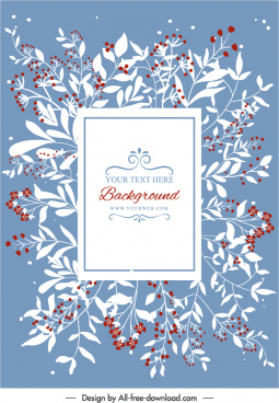 card cover template elegant classical bright floral decor