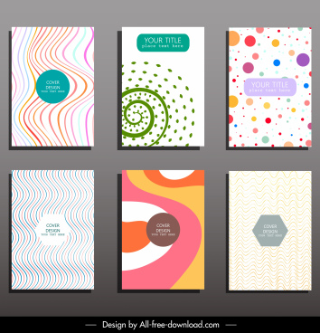 card cover templates bright abstract illusive motion decor