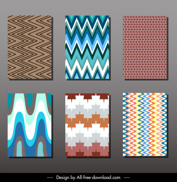 card cover templates colored abstract dynamic illusion decor