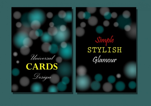 card cover templates dark bokeh universal style
