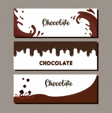 card cover templates melting splashing chocolate liquid decor