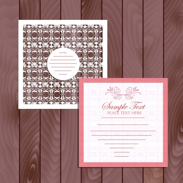 card design template classical symmetric decoration