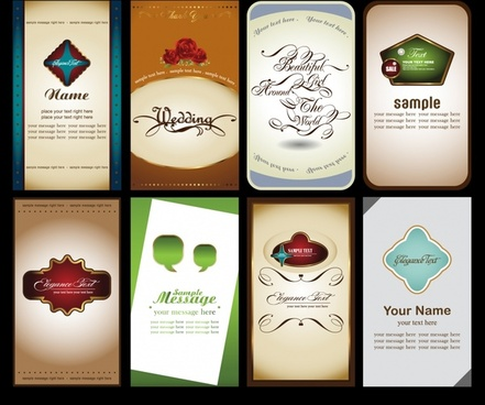 card cover templates vertical design classical elegance