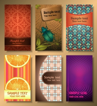 card cover templates elegant colorful themes