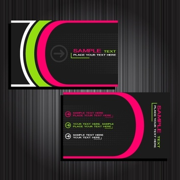 card templates modern elegant design colored curves ornament
