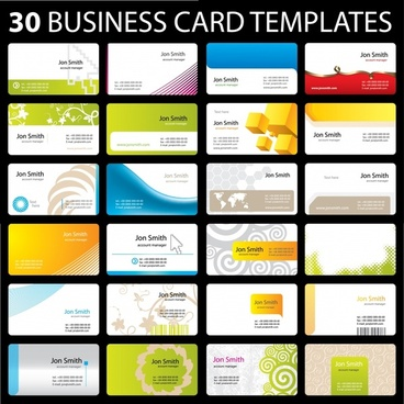 business card templates modern colorful horizontal design