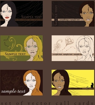 card template illustrator 01 vector