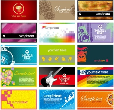 card template vector the trend