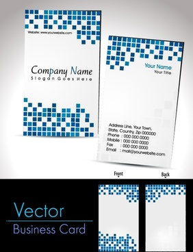 card vector business card business card templates box