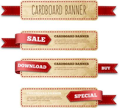 cardboard banner ribbon