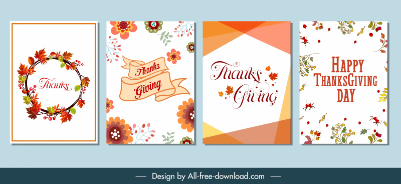 cards background templates autumns elements decor