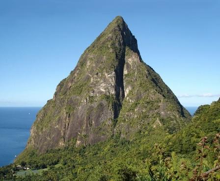 caribbean island petit piton st lucia
