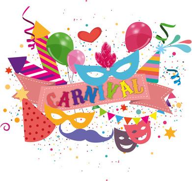 carnival confetti art background vector