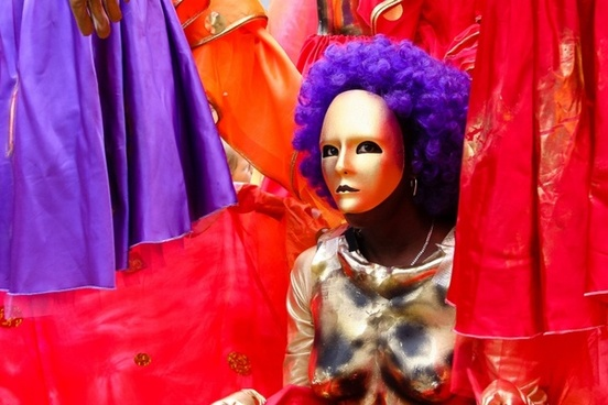 carnival dance mask