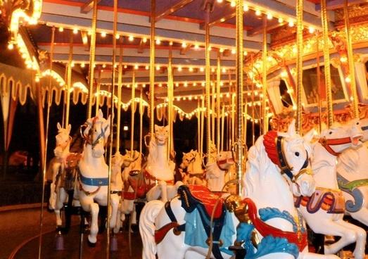 carousel horse night