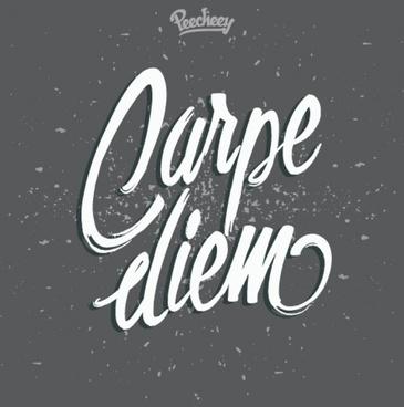 carpe diem seize the day poster