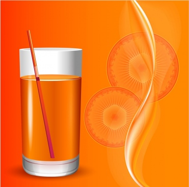carrot juice advertisement orange design slice glass icons