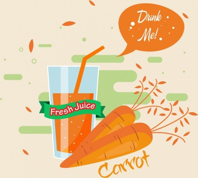carrot juice advertisement retro orange design