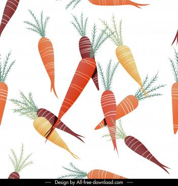 carrots pattern colorful flat design