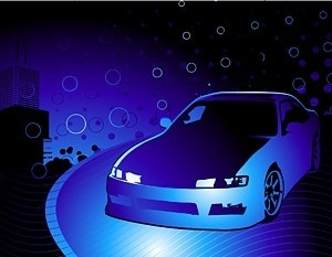 cars and cool background vector
