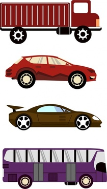 cars design sets various types in colors
