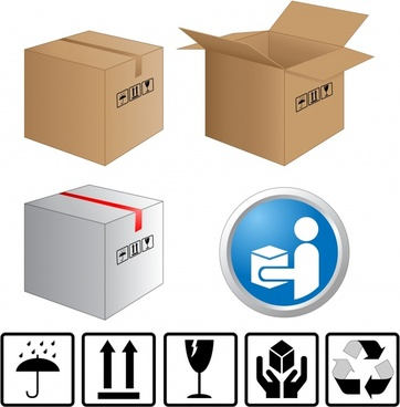 carton handling elements templates classical flat silhouette design