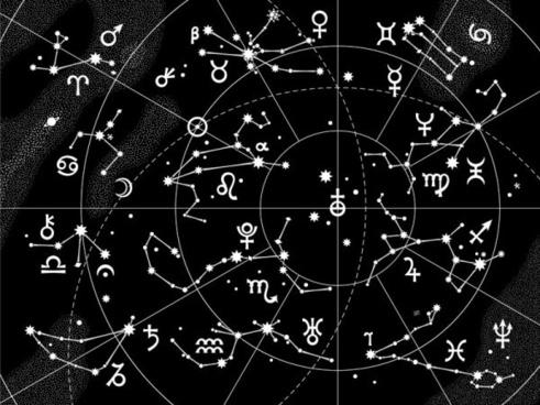 cartoon 12 constellation pattern 06 vector