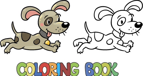 cartoon animal coloring picture vector