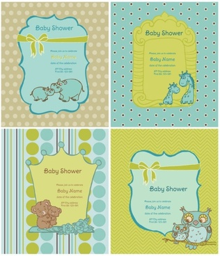 cartoon animal labels background vector