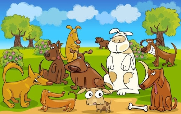 cartoon animals 01 vector