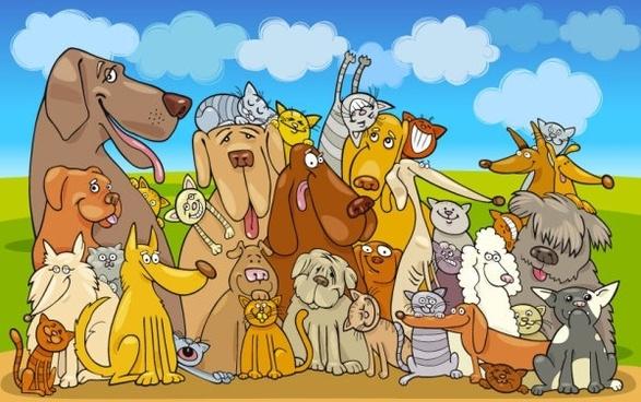 cartoon animals 02 vector