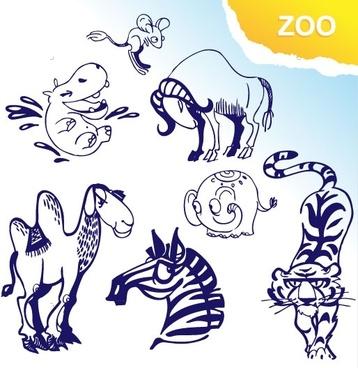 cartoon animals vector 3