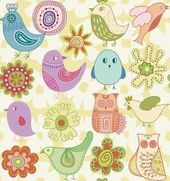 cartoon animals vector background