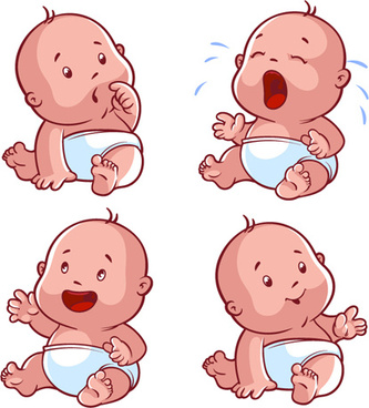 cartoon baby cute design vector