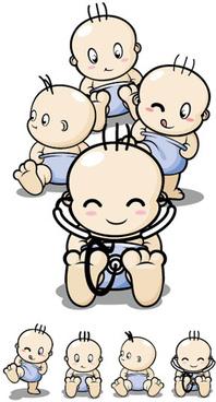 cartoon baby role vector
