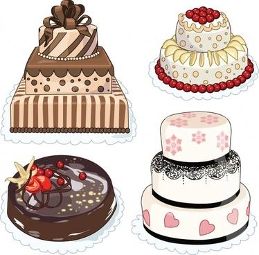 cartoon bakery cake vector