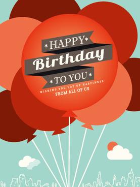 cartoon balloons and birthday background vector