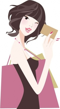 cartoon beauty illustrator 01 vector