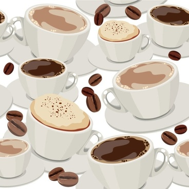 cartoon beverage background 03 vector