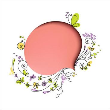 cartoon box flowers vector graphics