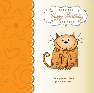 cartoon cat animal vector illustration