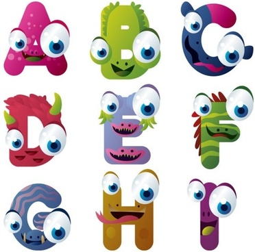 cartoon characters 01 vector