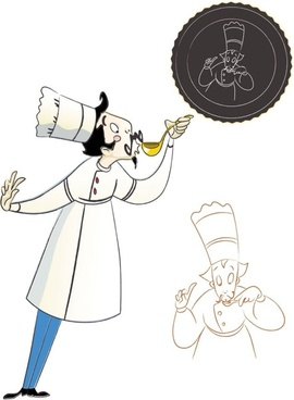 cartoon characters chef 07 vector